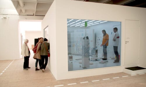 Lilith Performance Studio at Malmo Konsthall in the exhibition  24 SPACES – a cacophony, Donna Huanca – Raw Material